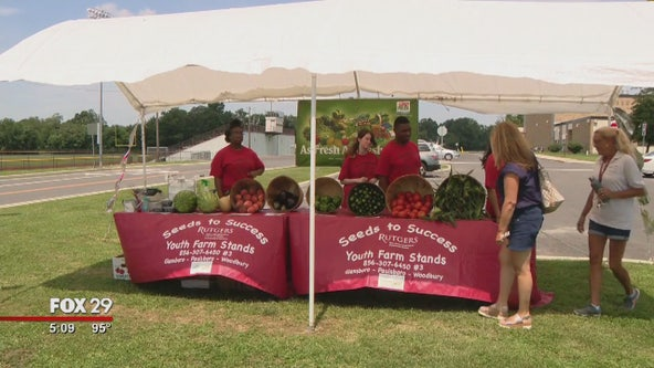 Students from Glassboro High School learn life skills at student-operated farm stand