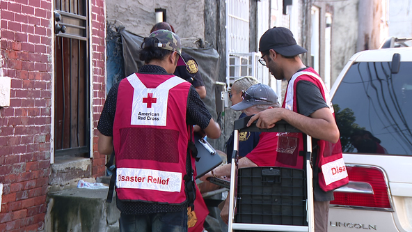 Philadelphia Fire Dept. and Red Cross volunteers deliver smoke alarms, conduct wellness checks in Nicetown-Tioga