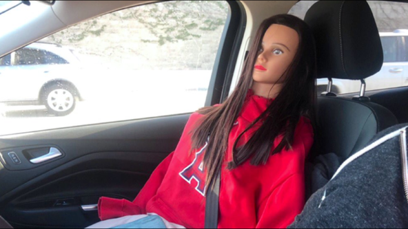 'Carpool cheater' caught riding on highway with mannequin