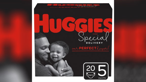 Huggies puts fathers on diaper packages for the first time