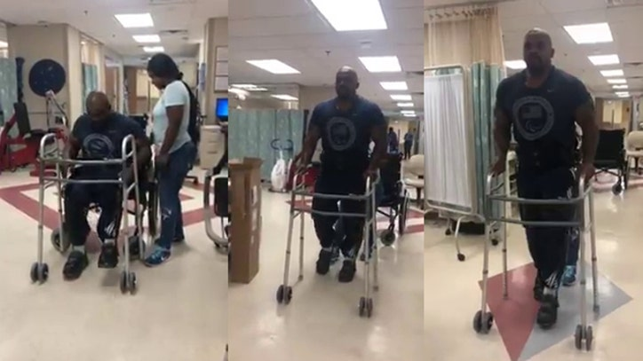 Veteran with paralysis walks with help of exoskeleton | FOX