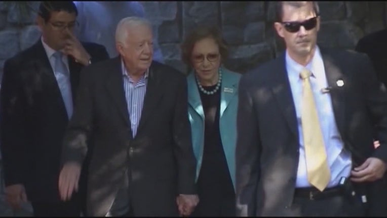 Jimmy and Rosalynn Carter celebrate 73rd anniversary