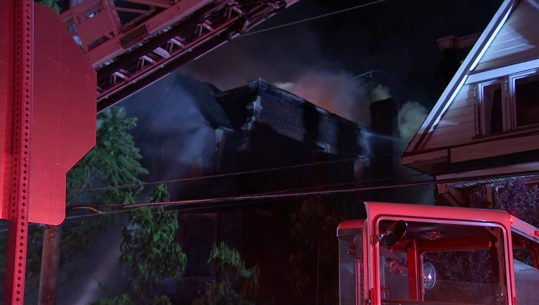 Two-alarm fire on Lindley Avenue in Logan.