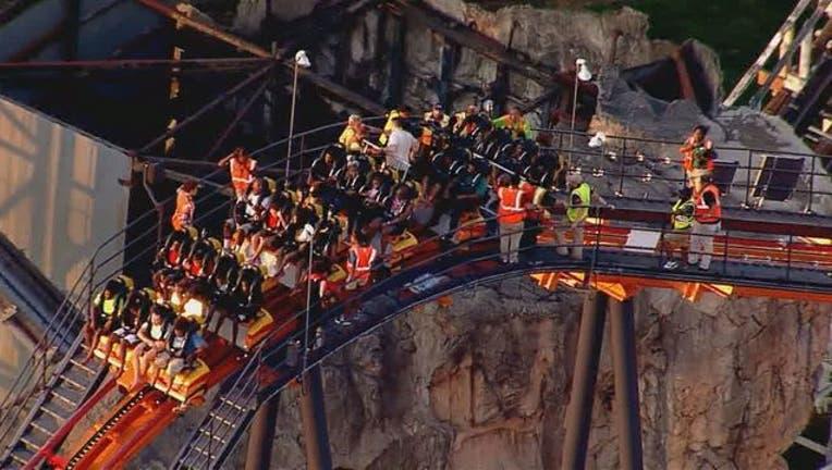 Officials: Firebird roller coaster stuck at Six Flags America