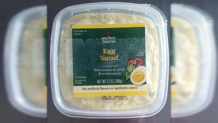Voluntary recall of egg salad, tuna salad, and sandwiches due to listeria concerns.
