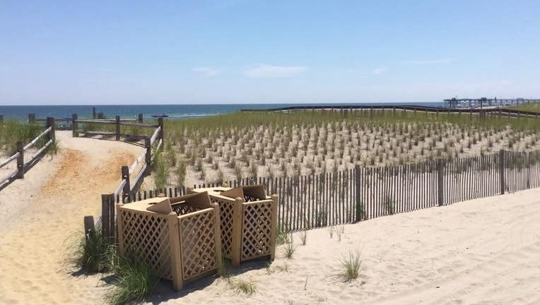 Beach in Margate, New Jersey
