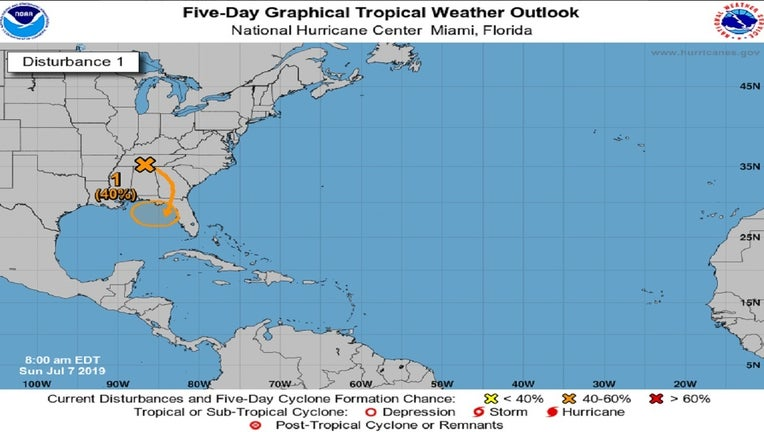 The National Hurricane Center is monitoring a disturbance that could form into a tropical depression .