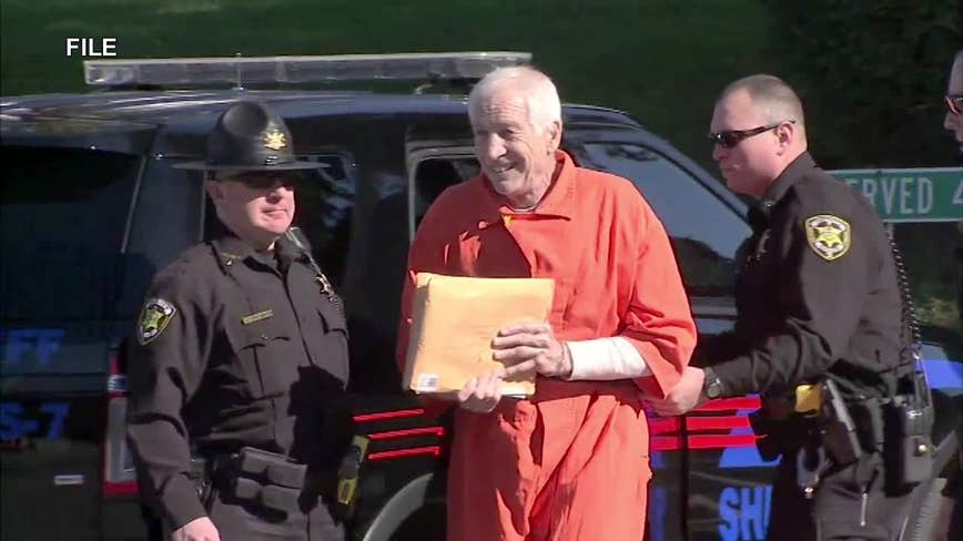 Jerry Sandusky arrives in court for new sentencing in abuse case