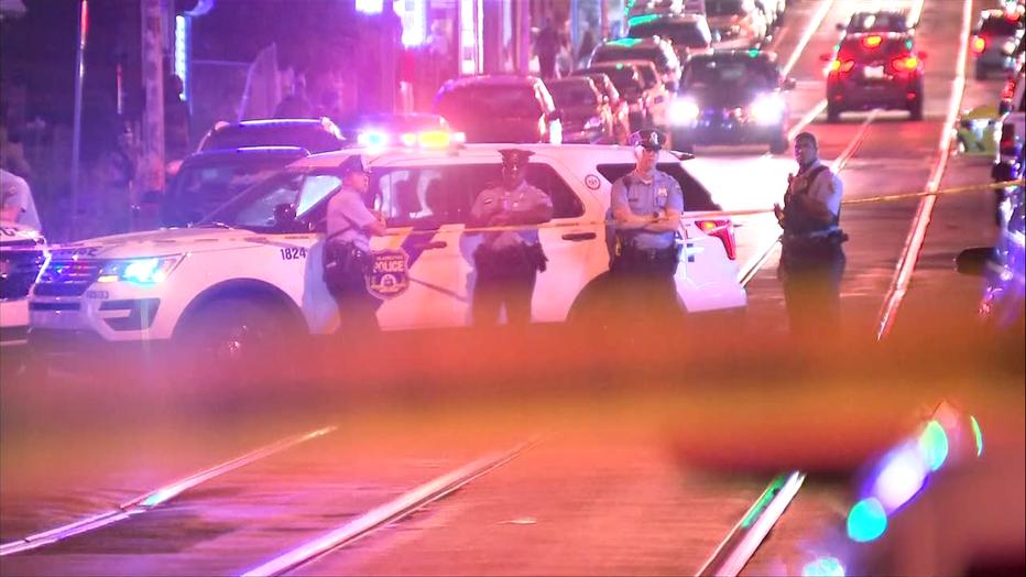 Seven people shot near Baker Park, in West Philadelphia Saturday night.