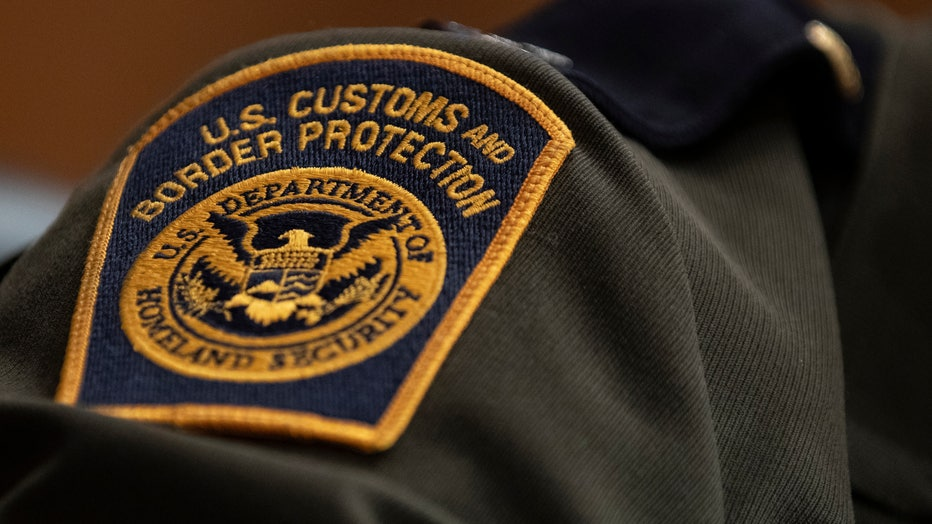 A U.S. Customs and Border Protection patch is shown on a uniform in this file image taken on April 9, 2019 in Washington, DC. (Photo by Alex Edelman/Getty Images)
