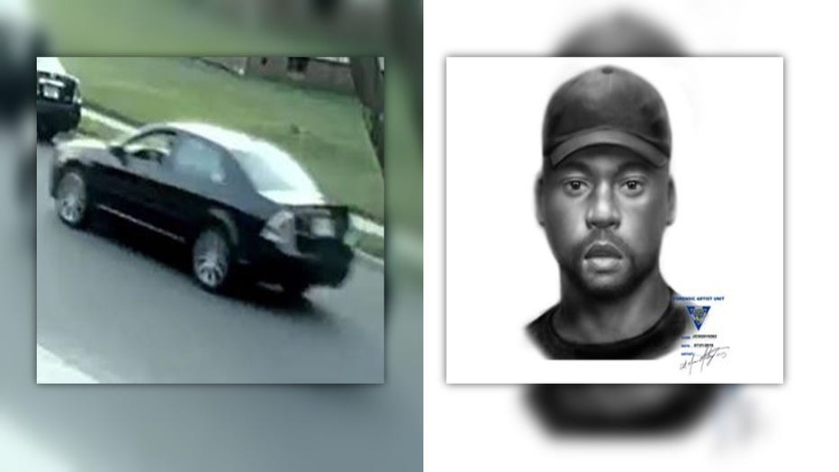 Sketch and suspect vehicle, Hamilton, N.J. attempted luring.