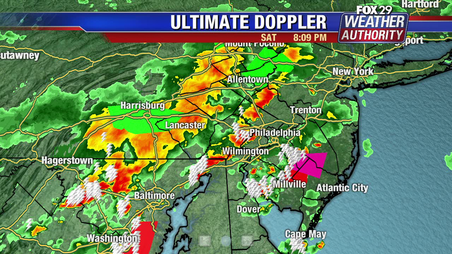Tornado warning for South Jersey