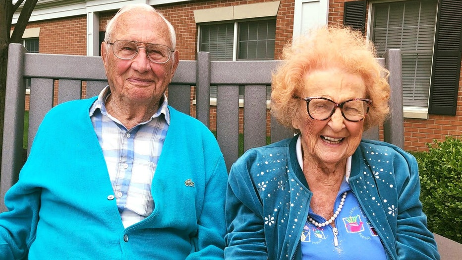 John and Phyllis Cook, 100 and 102, are pictured in an image shared by Kingston Residence of Sylvania, a senior living facility located just outside of Toledo. (Photo credit: Kingston Residence of Sylvania)
