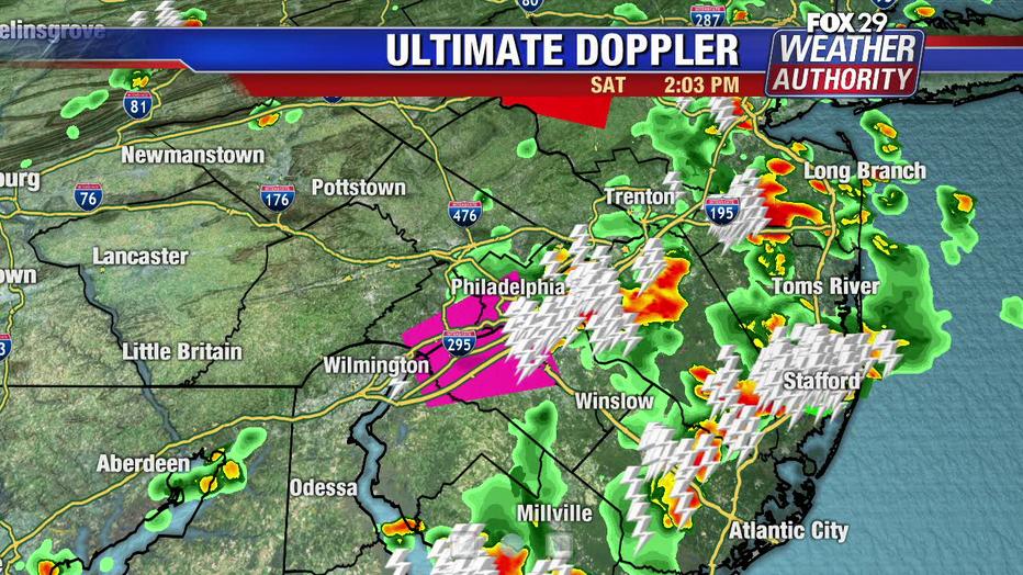 Tornado warning Philadelphia and Delaware Counties