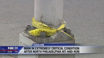 Man critical in North Philadelphia hit-and-run