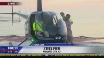 Bob Kelly takes a helicopter ride