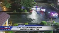 Video shows Gloucester Township police officer being dragged nearly 50 feet