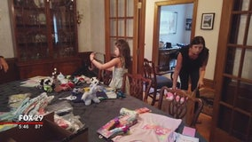 Mother and daughter donate pajamas in memory of family member