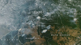 Brazil's Amazon rainforest ravaged by fire, smoke can be seen from space