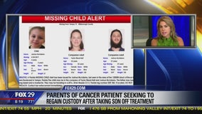 Parents of cancer patient seeking to regain custody after taking son off treatment