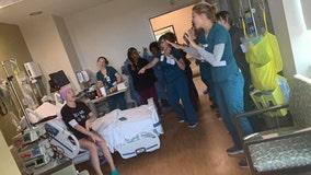 Georgia nurses bring Backstreet Boys concert to patient battling leukemia