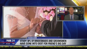 Study: 30 percent of bridesmaids, groomsmen go into debt for friend's big day