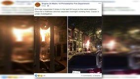 Philadelphia fire crews work 3 fires in one location in 24 hours in Point Breeze