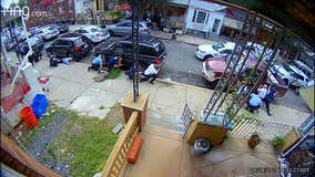 Home surveillance video shows chaotic scene during North Philadelphia police shootout
