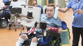 Chicago area teen battling cancer tests new wheelchair for freedom