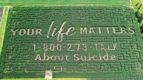 'Your life matters': Farm's corn maze raises awareness for suicide prevention