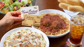 Olive Garden offering very limited number of 'Lifetime Pasta Passes'