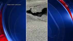 Neighbors plead for help with sinkhole on Kensington Street