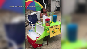 6-year old-girl starts lemonade stand to raise money for retired K9 officer