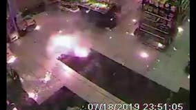 Police searching for 2 suspects accused in explosion at gas station mini-mart