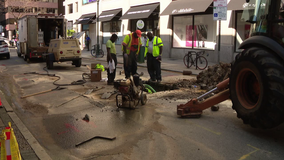 12-inch water main in Center City leads to traffic headaches