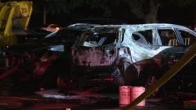 Authorities investigate arson after 7 cars torched in Oxford Circle