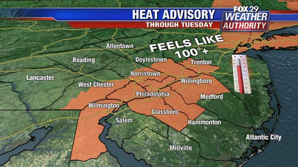 Weather Authority: Heat Advisory Monday; PM thunderstorms