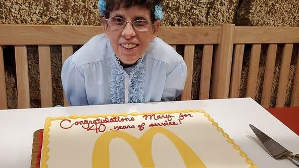 McDonald's employee celebrates 40th anniversary in Downington