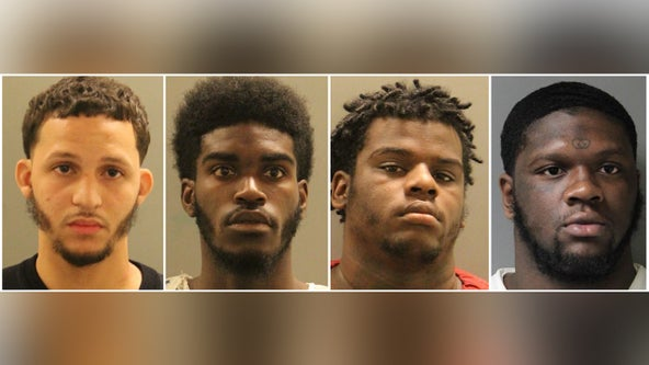 Gunfire at Del. house party leads to chase, crash; 4 arrested