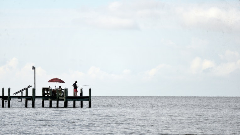 At the bayside, people enjoy outdoor activities at Deal Island, Maryland.