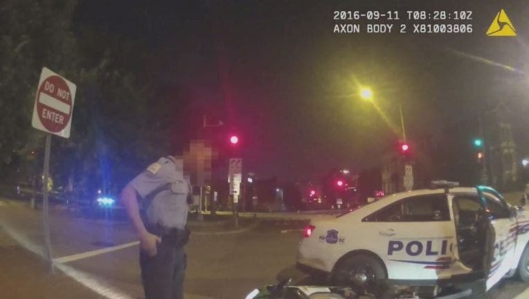 Body-cam footage released Tuesday shows the moments after 31-year-old Terrence Sterling was shot by a DC police officer on September 11, 2016.