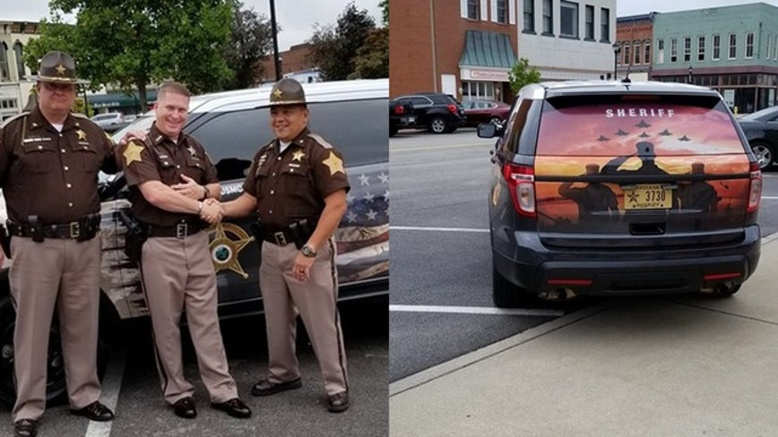 Veteran turned deputy surprised with patrol vehicle honoring his military service