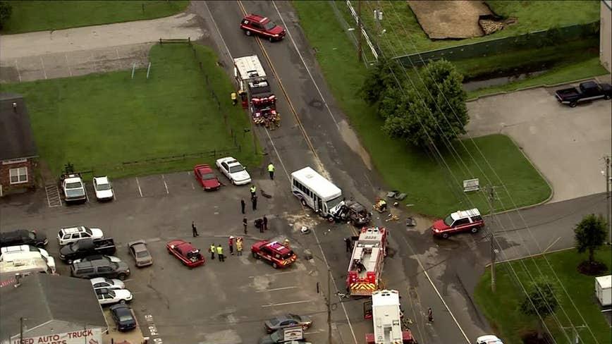 Emergency crews on scene of multi-vehicle crash in Camden County