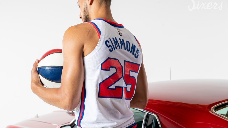newest b7cff fc63b Sixers unveil Classic Edition throwback jerseys | FOX 29 ...