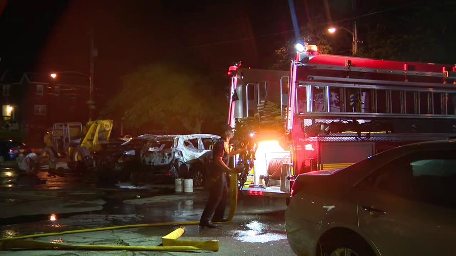Arson investigated at Oxford Circle car dealership.