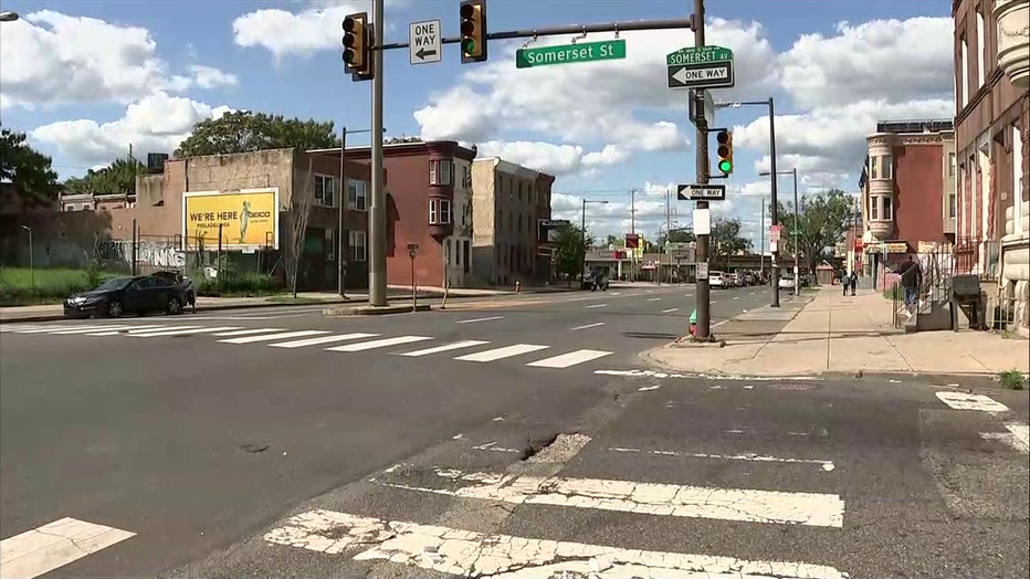 Hit-and-run location at Broad and Somerset Streets