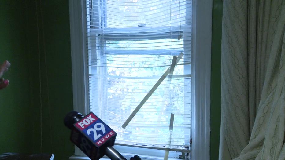 Home damaged after North Philadelphia police shooting