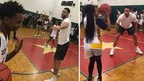Sixers'Ben Simmons surprises Camden students with new sports equipment, uniforms