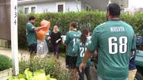 Philadelphia Eagles players surprise NJ teen with terminal diagnosis with special delivery