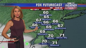 Fox 29 Weather Authority 7-day forecast 10 pm